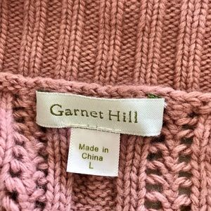 Garnet Hill dusty rose open front w lace insets